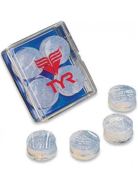 TYR Soft Silicone Earplugs clear